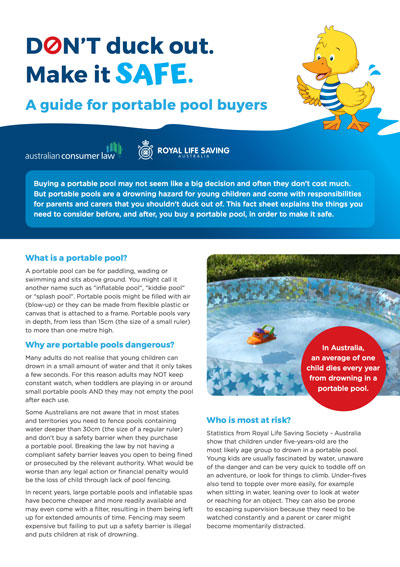 Don't Duck Out - Make Your Portable Pool Safe!